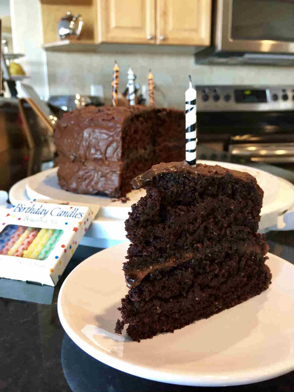 Low Fat Chocolate Birthday Cake Recipe