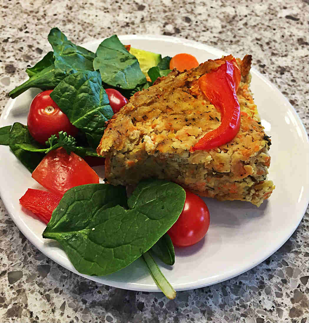 vegan tofu quiche baked brunch or dinner