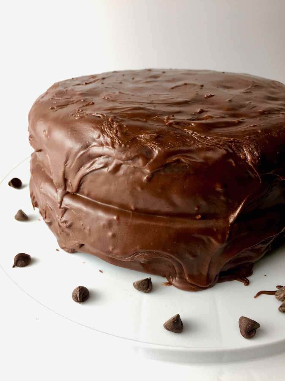 Image Of Whole Foods Plant Based Oil Free Chocolate Vegan Layered Birthday Cake With