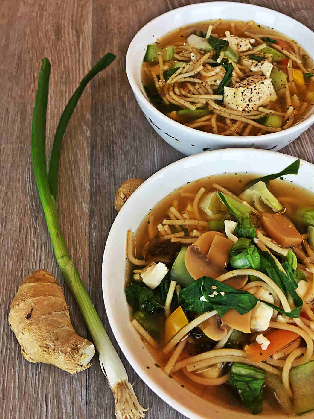 Bok Choy Tofu Noodle Soup Vegan