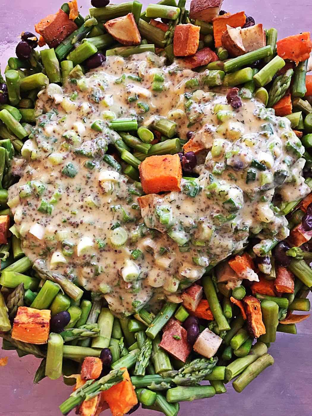 Dijon Mustard Dill Lemon Chia-seed Tahini wfpb salad dressing