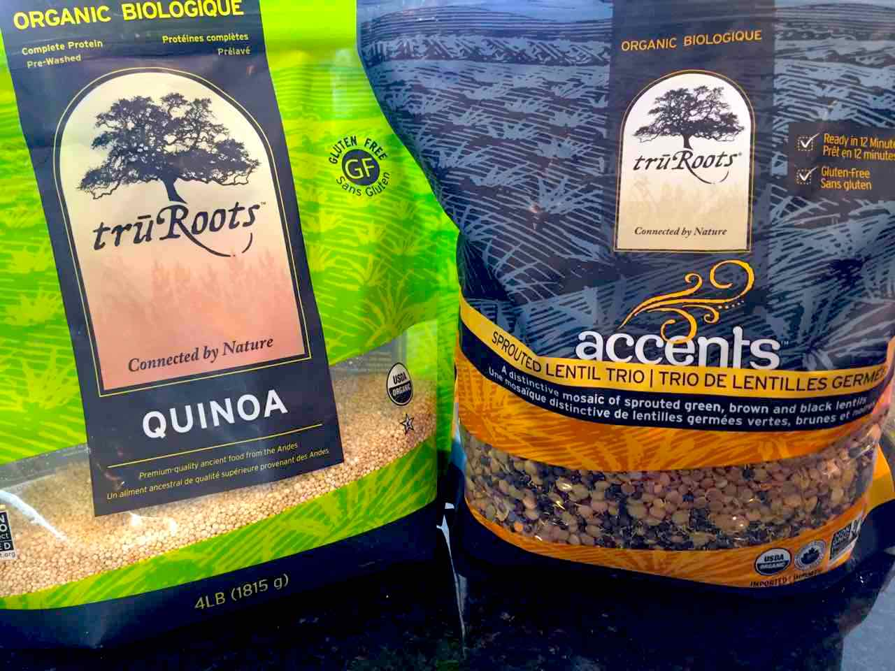 Image of Quinoa and Sprouted Lentils in Packages truRoots
