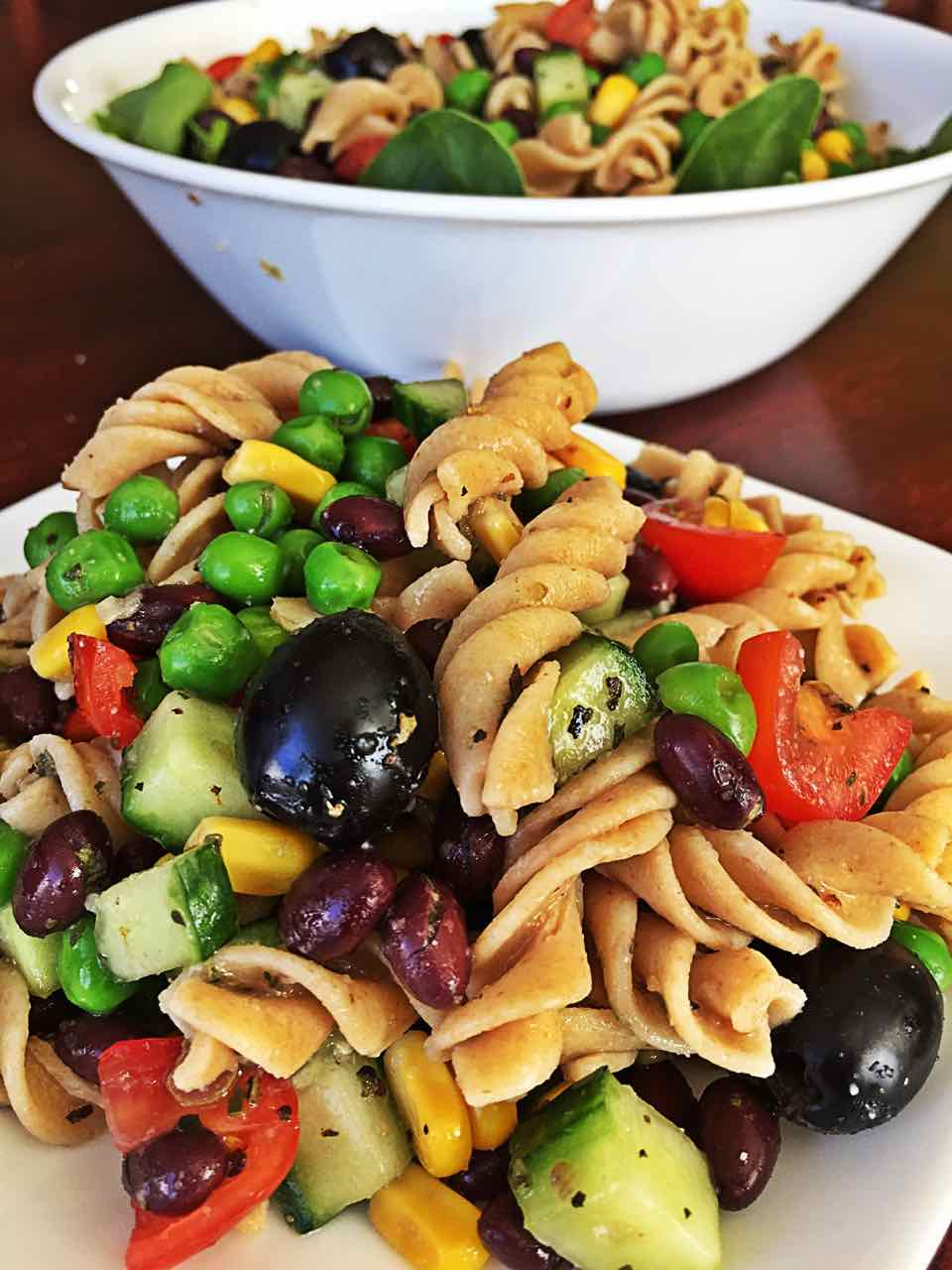 Vegan Healthy Pasta Salad Fat-free Italian